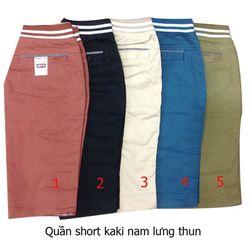 short kaki lưng chun