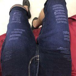 Quần lửng jean nam