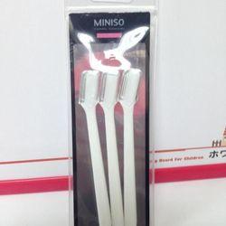 Bộ dao sửa lông mày 3 chiếc miniso