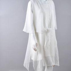 Đầm voan xếp li kèm áo khoác giá sỉ