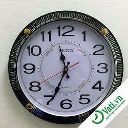 đồng hồ treo tường hình tròn cực ngầu f38 -  nhận in quảng cáo lên đồng hồ