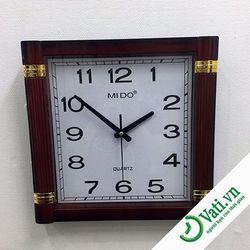 Đồng hồ treo tường Vati Wood f6 - nhận in quảng cáo