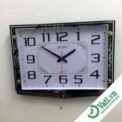 Đồng hồ treo tường hình vuông Black F56 -  Nhận IN Quảng cáo