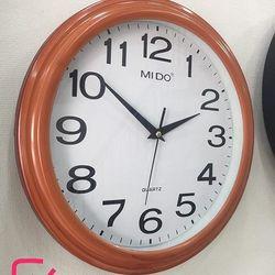 Đồng hồ treo tường hình tròn viền giả gỗ F46