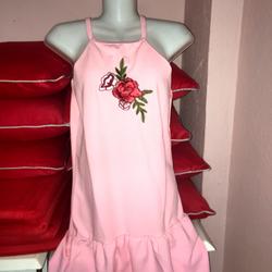 Đầm suông 2 dây đuôi xoè  giá sỉ