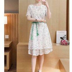 Đầm voal hoa nhí - giá sỉ, giá tốt