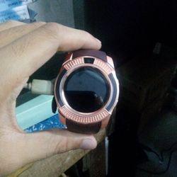 Đồng hồ thông minh có khe sim mặt tròn Smartwatch V8 nâu giá sỉ