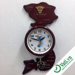 Đồng hồ treo tường kiểu dáng bản đồ Việt Nam S82