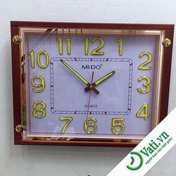 Đồng hồ treo tường hình vuông giả gỗ F64