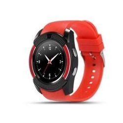 Đồng hồ thông minh có khe sim mặt tròn Smartwatch V8 đỏ