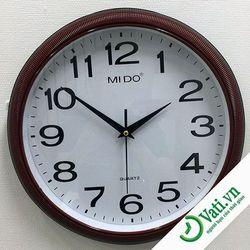 Đồng hồ treo tường hình tròn giả gỗ F62
