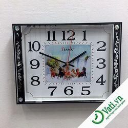 Đồng hồ treo tường hình vuông Brown S72