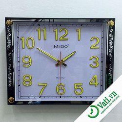 Đồng hồ treo tường hình vuông hoa văn Black F63