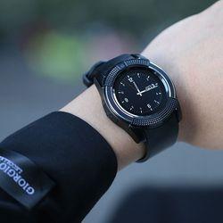 Đồng hồ thông minh có khe sim mặt tròn Smartwatch V8 Đen giá sỉ