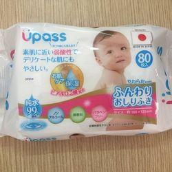 Khăn ướt em bé Upass 180x125mm (80 tờ/gói)