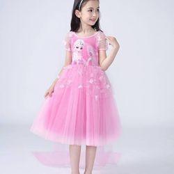D521 Đầm công chúa tay dài phối ren - giá sỉ, giá tốt