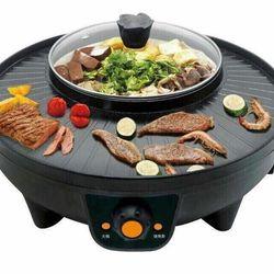 Nồi lẩu kèm bếp nướng BBQ không khói