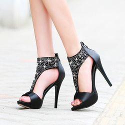 Giày Cổ Cao Đính Đá