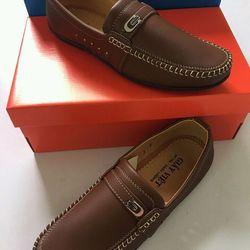 Giày mọi Nam màu da bò