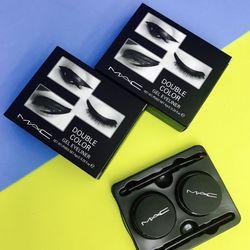 Bộ Gel kẻ mắt Macs Double Color với 2 tone màu nâu và đen giá sỉ