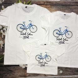 Áo gia đình xe đạp