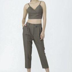 Set quần baggy và áo crop-top giá sỉ