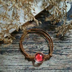 Lắc tay nữ đá thủy tinh hoa Sakura đường kính hạt thủy tinh 15cm VT41