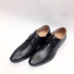 giày tây nam buộc dây khâu vát xuống đầu mũi