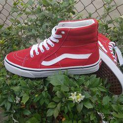 giày cao cổ lửng đỏ nam nữ giá sỉ