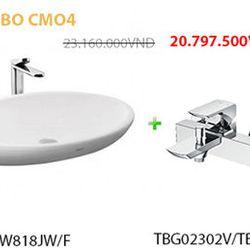 Combo bàn cầu chậu rửa sen vòi và đèn Led CMO4 giá sỉ