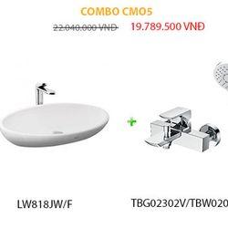 Combo bàn cầu chậu rửa sen vòi và đèn Led CMO5 giá sỉ