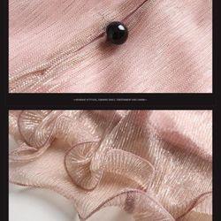 Hàng nhập - Đầm suông kim tuyến cổ thắt nơ duyên dáng - giá sỉ, giá tốt