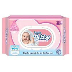 Khăn ướt trẻ em Bobby có mùi hương loại 100 tờ