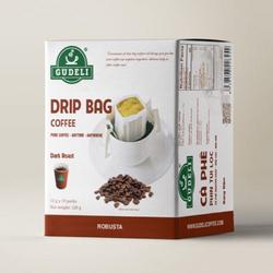 Cà phê phin túi lọc Robusta 10 packs GUDELI COFFEE