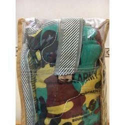 Nệm túi du lịch chần gòn rằn ri loại thẳng giành cho 2 người KT160x195x2cm