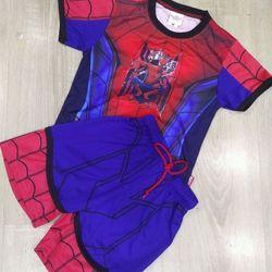 bộ thun Spiderman đắp nổi cotton cực đẹp từ 3-6t giá sỉ