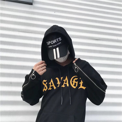 hoodie phối kéo