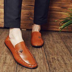 Giày lười thời trang da gam màu cổ điển 627 giá sỉ