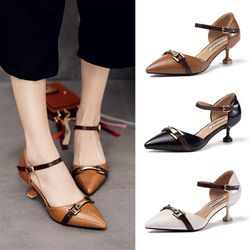Giày cao gót phong cách cổ kính sang trọng-155 giá sỉ
