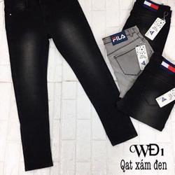 Jean Dài wax xám đen WD1 30-34