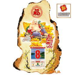 Lịch Gỗ Treo Tường Phật Giáo Di Lặc V5DL giá sỉ