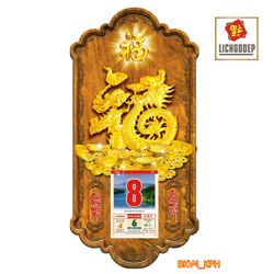 Lịch Gỗ Phong Thủy Rồng Vàng V4KPH giá sỉ