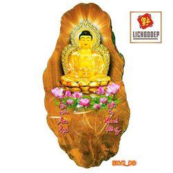 Lịch Gỗ Treo Tường Phật Giáo A Di Đà V2 giá sỉ