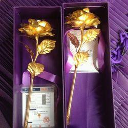 hoa hồng mạ vàng 24k giá sỉ, giá bán buôn