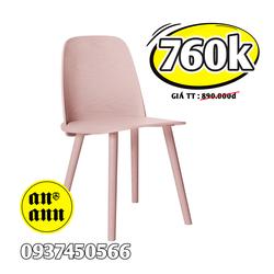 Ghế NHỰA CHÂN GỖ SƠN - Nerd Chair Muuto