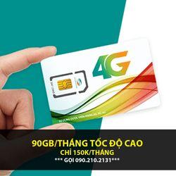 SIM VIETTEL 90GB/THÁNG 3GB/NGÀY CHỈ 5K
