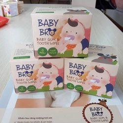 Gạc vệ sinh răng miệng Xylitol Baby Bro 100 từ Hàn Quốc giá sỉ