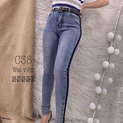 Quần jeans dài C38 giá sỉ