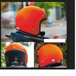 Mũ bảo hiểm 3/4 dành cho phượt thủ cam nhám giá sỉ