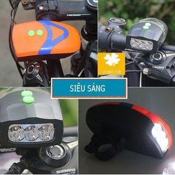 Đèn gắn xe đạp kiêm còi xe giá sỉ
